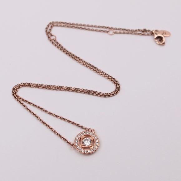 PANDORA Rose Gold Vintage Circle Collier Necklace